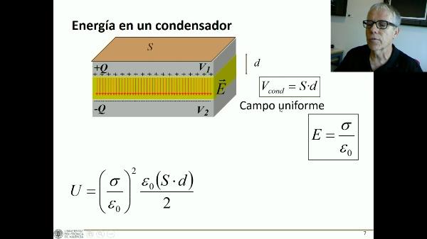 Energía en el condensador y en el campo eléctrico C