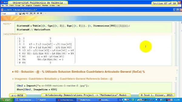 Solución Cinemática Simbólica a_c_0658 con Mathematica -A- 07 de 10