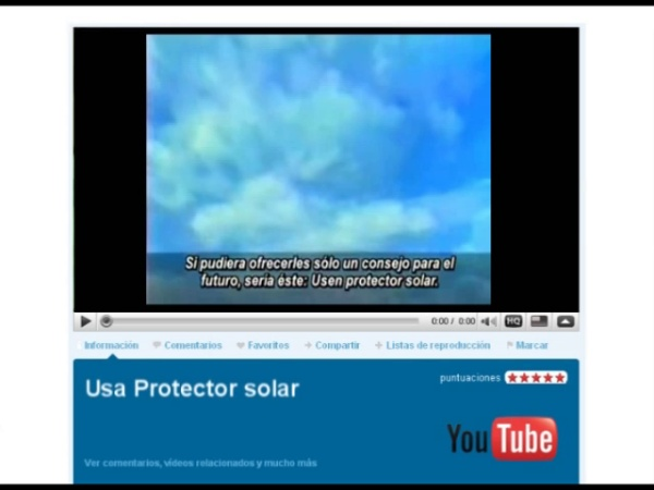El vídeo de la semana: Usa crema solar