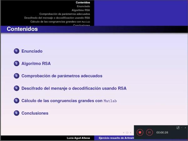 Algoritmo RSA ejemplo y potencias grandes