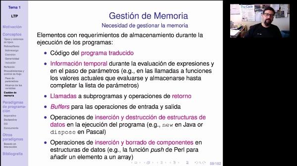 LTP. Tema 1.2.5. Gestión de memoria