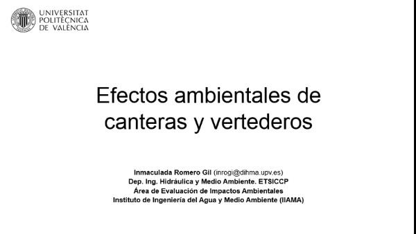 Efectos ambientales de canteras y vertederos_Fase de abandono