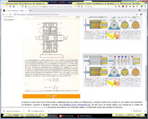 Mecánica y Teoría de Mecanismos ¿ 2020 ¿ MM - Clase 15 ¿ Tramo 05 de 12