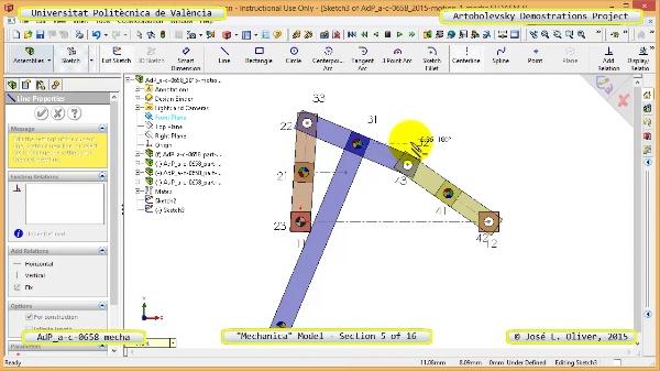 Simulación Mecanismo a-c-0658 con Mechanica - 05 de 16 - Parametrización