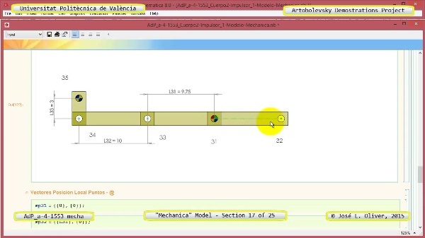 Simulación Mecanismo a-4-1553 con Mechanica - 17 de 25 - Modelo Gráfico