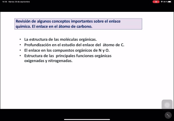 Hibridación de orbitales. Principales enlaces en química orgánica