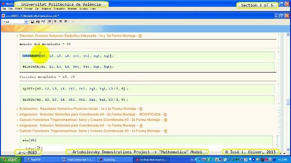 Solución Cinemática Simbólica a_c_0683 con Mathematica -A- 3 de 5