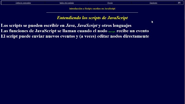 Uso de scripts en VRML