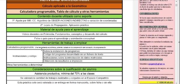 Actividad Univ. Calculo en Geomática MM.CC. Algoritmo particular OI_01_Ficha de cabecera