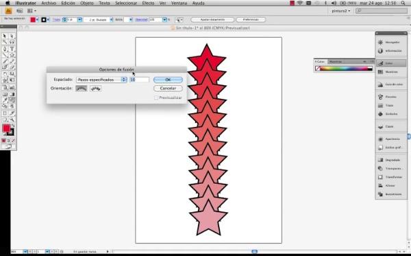 Adobe Illustrator Herramienta fusión