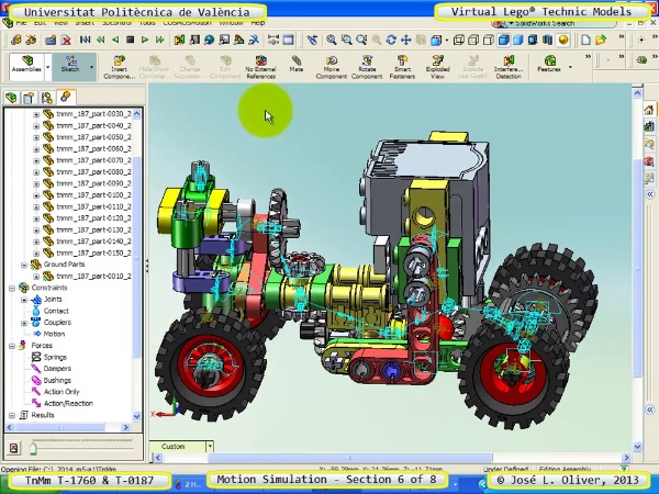 Simulación Dinámica Lego Technic T-0187 sobre Base -D- 6 de 8