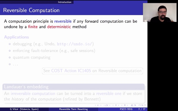 Reversible Term Rewriting (FSCD'16)