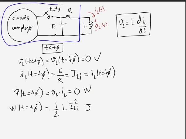 Teoría de circuitos 1. Lección 4. 5-2 Carga de una bobina, ecuaciones de carga