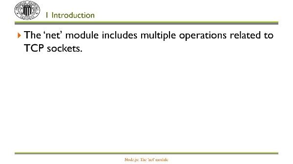 Node.js: Module 'net'