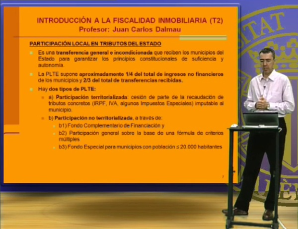 INTRODUCCIÓN A LA FISCALIDAD INMOBILIARIA 2 (1º CURSO)