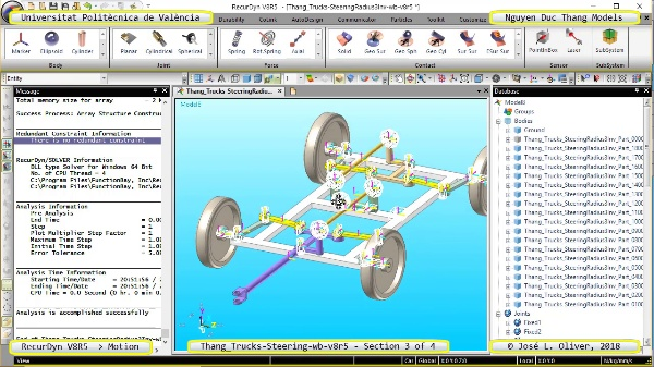 Simulación Cinemática Thang_Trucks-SteeringRadius3Inv-wb-v8r5 con Recurdyn - M3dTa - 3 de 4