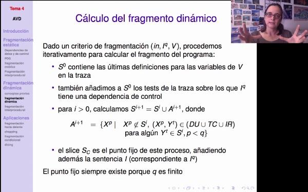 AVD - Fragmentación dinámica. Cálculo del fragmento