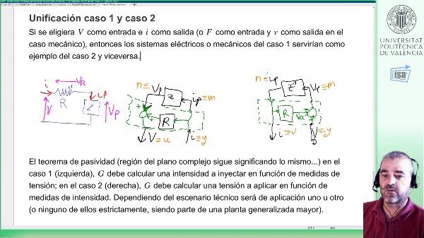 Exceso pasividad input/output: analogía mecánica, relación entre ambos casos