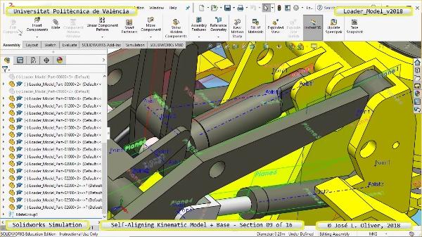 Simulación Dinámica de Cargadora Volvo L70C con Solidworks Motion v2017 - 09 de 16
