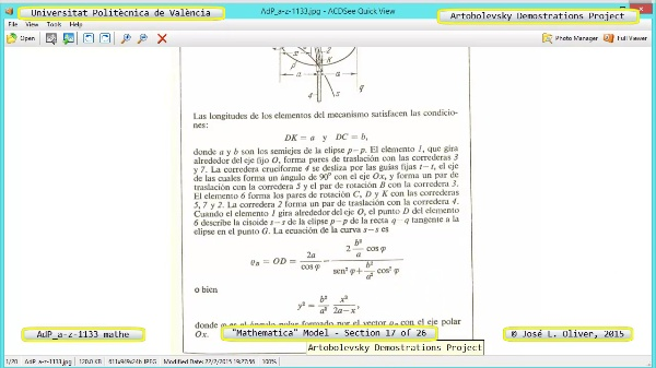 Solución Cinemática Simbólica a-z-1133 con Mathematica - 17 de 26