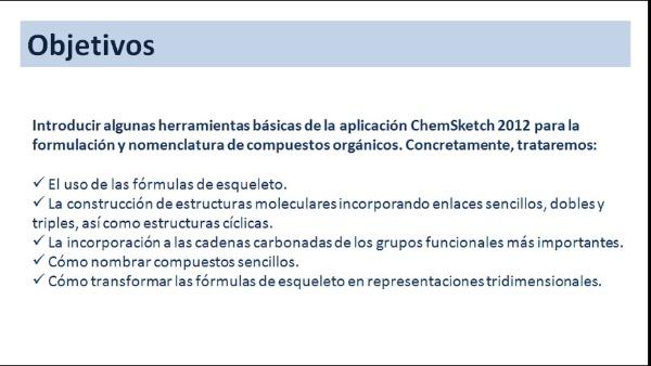 Introducción a la aplicación ChemSketch2012