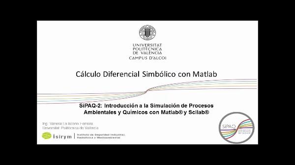 SiPAQ-2: Cálculo Diferencial Simbólico con Matlab