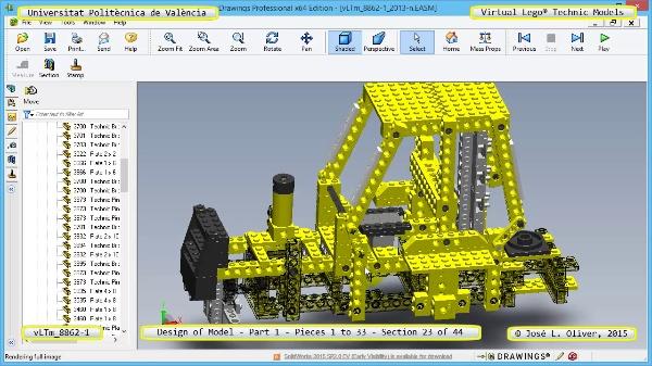 Creación Virtual Modelo Lego Technic 8862-1 ¿ Pieza 1 ¿ 23 de 44