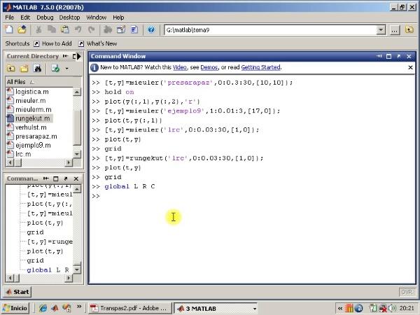 Tema 9. Sistema de ecuaciones diferenciales. Método de Runge-kutta
