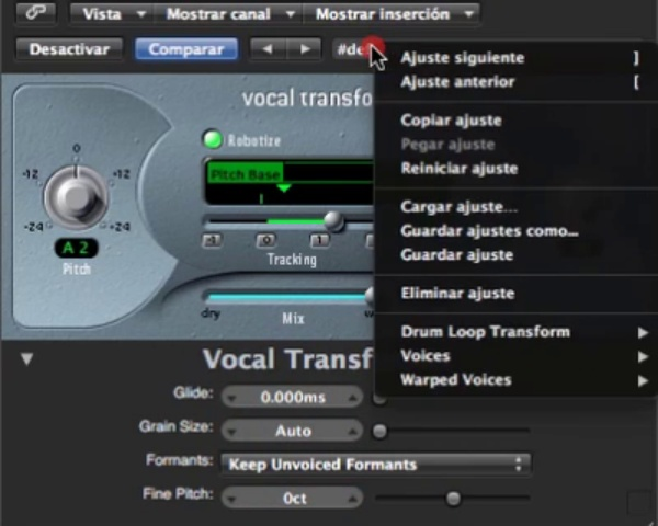 Tutorial Logic: vocal transformer