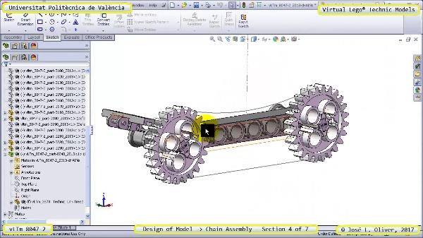 Creación Virtual Lego Technic 8047-2 ¿ Montaje de una Cadena ¿ 4 de 7
