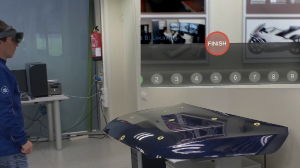 Mixed reality-based user interface for quality control inspection of car body surfaces - Exp. Test B MR device