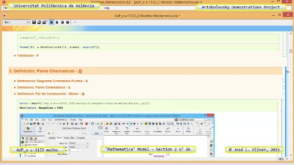 Solución Cinemática Simbólica a-z-1133 con Mathematica - 02 de 26