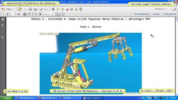 Simulación Cinemática Lego Technic 8868-1-n-03 con Mathematica ¿ 1 de 4