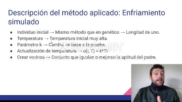 TIA: Comparación de métodos metaheurísticos