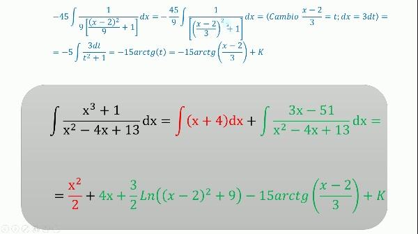 Ejemplo de integración función racional