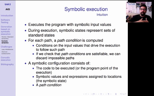 AVD. Unit 2. Symbolic execution (1)