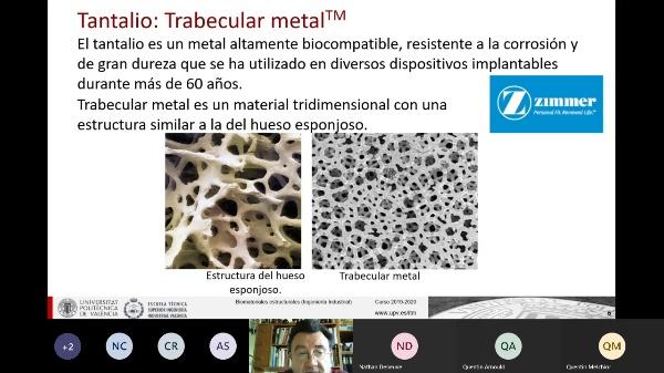 Clase de Biomateriales Estructurales: Otros metales I