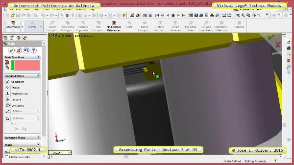 Creación Virtual Modelo Lego Technic 8862-1 ¿ Montaje Modelo ¿ 07 de 44