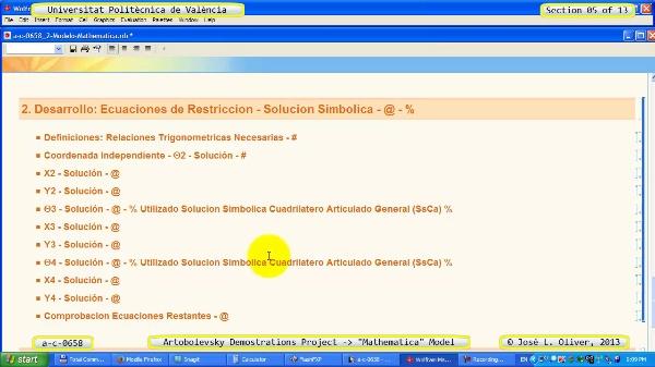 Solución Cinemática Simbólica a_c_0658 con Mathematica -B- 05 de 13