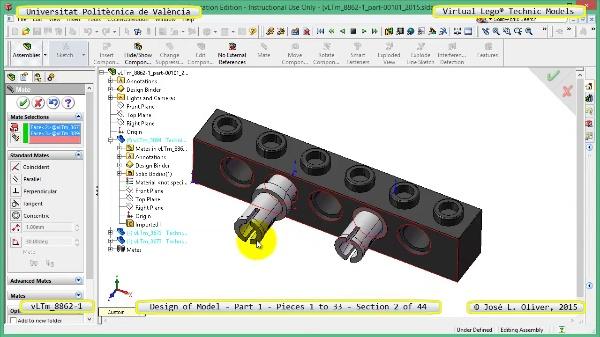 Creación Virtual Modelo Lego Technic 8862-1 ¿ Pieza 1 ¿ 02 de 44