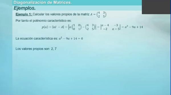 M1-ELE-61 Cálculo Valores Propios