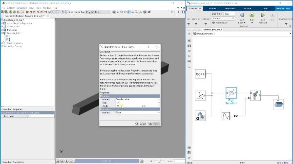 Cómo crear una revolute joint en el eje Y en Simscape Multibody