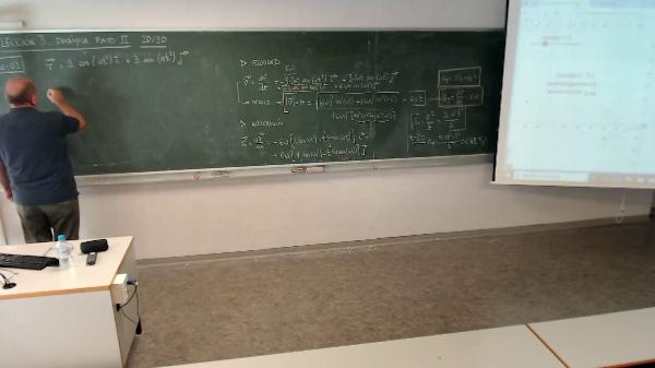 Física 1. Lección 3. Movimiento circular uniforme, componentes de la aceleración