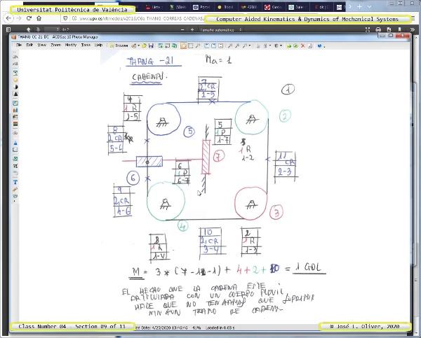 Mecánica y Teoría de Mecanismos ¿ 2020 ¿ MM - Clase 04 ¿ Tramo 09 de 11