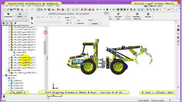 Simulación Dinámica Lego Technic 8459-2 sobre Base ¿ 08 de 14