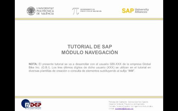Tutorial de SAP:Introducción a la Navegación en el Sistema SAP (G.B.I. 2.20)