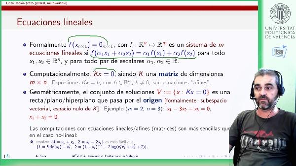 Linealización de funciones de varias variables: variedad tangente