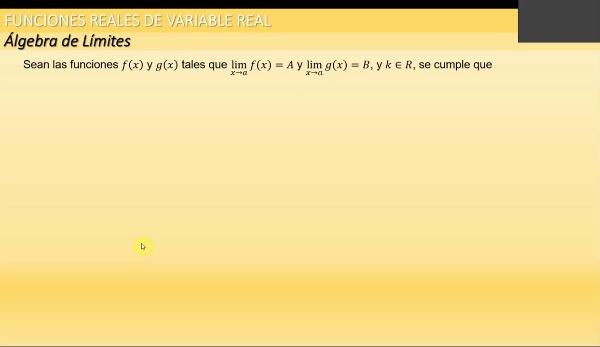 M1-ELE-125 Algebra de Límites