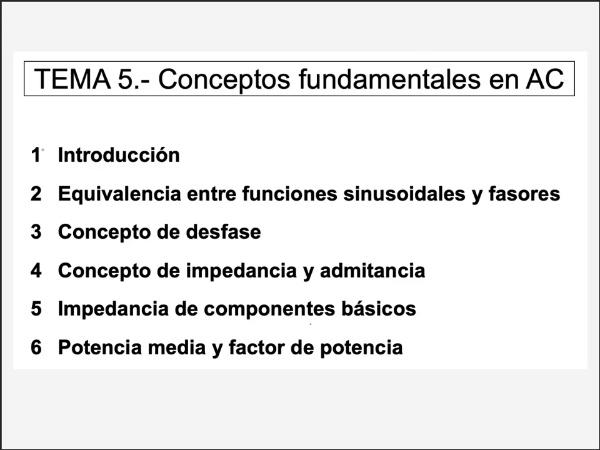5.2.- Funciones sinusoidales y fasores