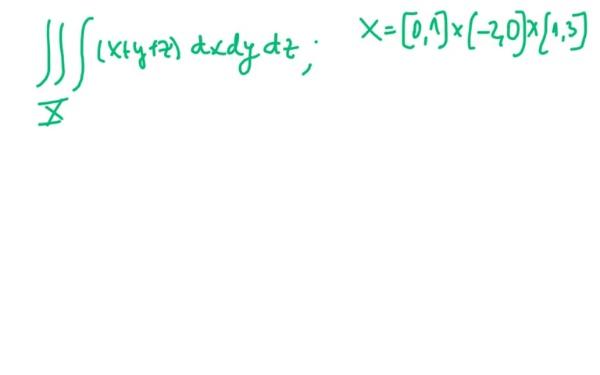 Ejercicio de integración triple en un producto de intervalos